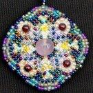 Magic Fluorite Beaded Pendant