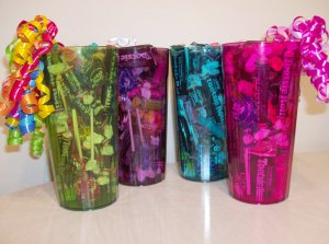 Tootsie Tumbler Candy Gift 4 Pack in Blue