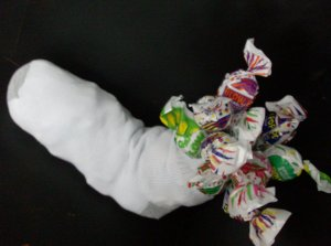 Gum-in-a-Sock Novelty Candy Gift