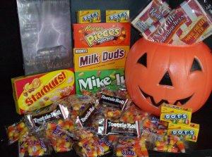 Halloween Scary DVD Popcorn & Candy Gift Jack-o-Lantern