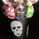 Halloween Skull Votive Candle Holder with Candy Favor Gift
