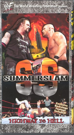 WWF SummerSlam 1998 Video NEW WWE Stone Cold Steve Austin Undertaker Highway Hell WCW ECW TNA
