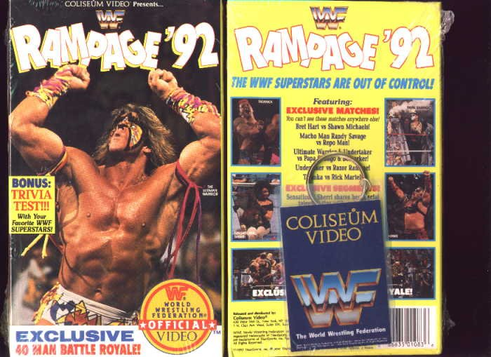 WWF Rampage 1992 SEALED Coliseum Video In Box WWE WWF WCW ECW TNA