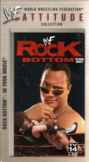 WWE Rock Bottom 1998 Video SEALED WWF Buried Alive Undertaker Austin WWF WCW ECW TNA WWE