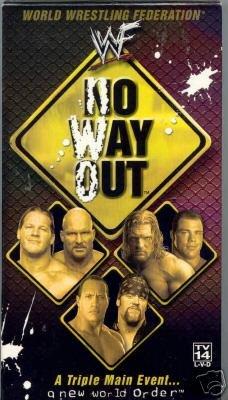WWF No Way Out 2002 Video SEALED NWO Returns WWE Hogan WWF WCW ECW TNA WWE