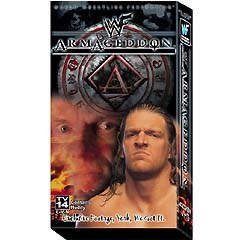 WWF WWE Armageddon 1999 VHS Video SEALED Triple H Vince McMahon WWF WCW ECW TNA WWE