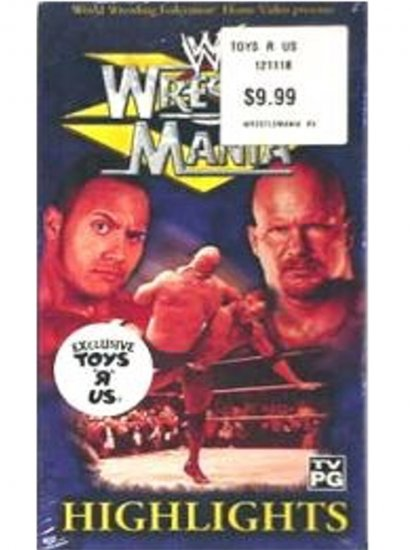 WWF Highlights WrestleMania 15 Video SEALED Rock Austin WWF WCW ECW TNA WWE