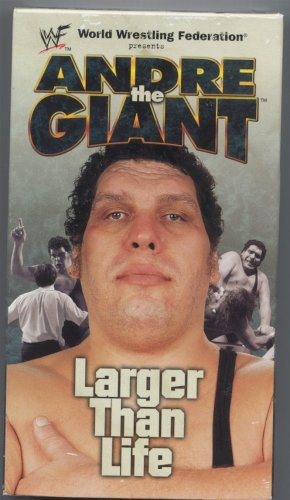 WWF WWE Andre The Giant Larger Than Life SEALED Video WWF WCW ECW TNA WWE