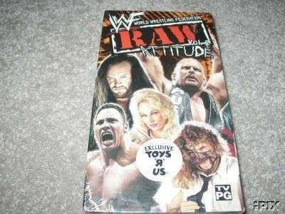 WWF WWE Raw Attitude Vol. 2 Video SEALED In Box Steve Austin WWF WCW ECW TNA WWE
