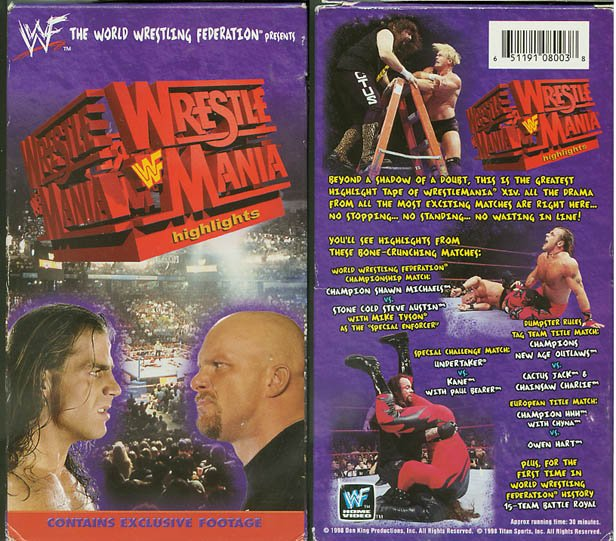 WWF WWE WrestleMania 14 Highlights Sealed Video Steve Austin WWF WCW ECW TNA WWE