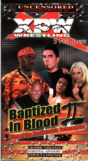 XPW Baptized In Blood 2 Video SEALED In Box WWF WWE WWF WCW ECW TNA WWE