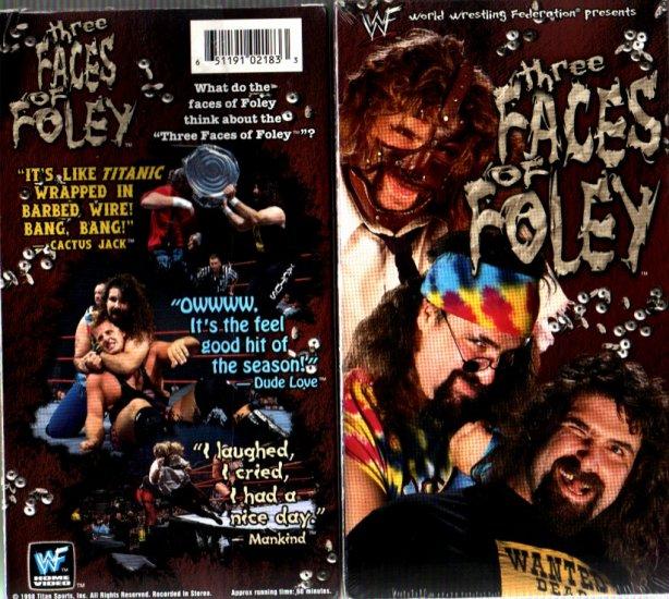 WWF Three Faces of Mick Foley Video In Box WWE Mankind WWF WCW ECW TNA WWE