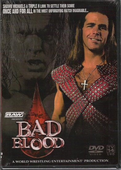 WWE WWF Bad Blood 2004 DVD SEALED Hell Cell Triple H Shawn Michaels WWF WCW ECW TNA WWE