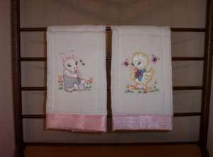 Vintage Baby Animal Burp Cloths