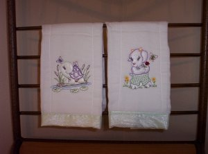 Vintage Baby Animal Burp Cloths
