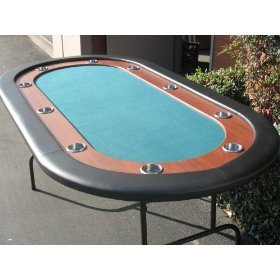 New Deluxe Green Pro Race Track texas holdem Poker Table