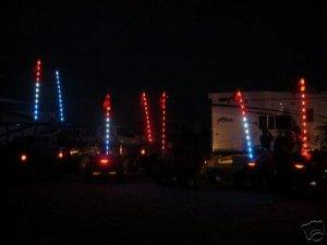 New Patriotic SUPER BRIGHT Led Whip, Rhino, ATV, Sand Rail, Buggy
