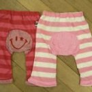 100% Organic Cotton Infant Monkey Pants