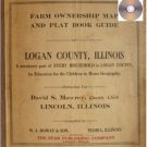 Plat Book Logan County Illinois 1922 Genealogy