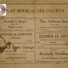 Plat Book Lee County Illinois ca 1930's Genealogy