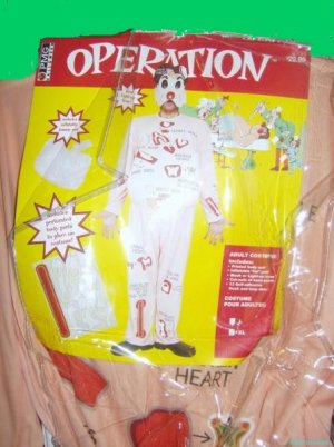 OPERATION game doctor LARGE surgery NEW old stock vintage retro inspired COSTUME