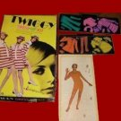 TWIGGY mod 60s dolls VINTAGE super PAPER sixties DOLL model PLAY SET game COLORFORMS