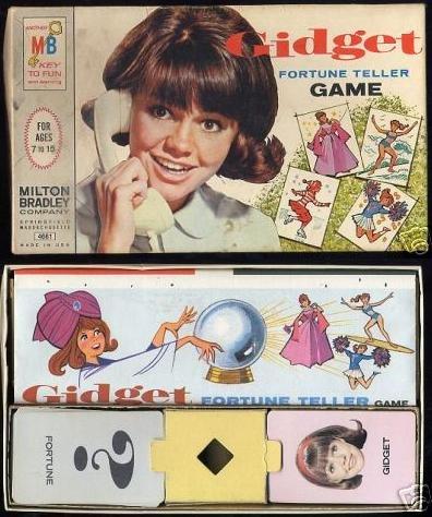 GIDGET sally field 0sh VINTAGE fortune teller card GAME