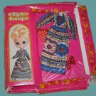 BLYTHE kenner DOLL boutique VINTAGE pretty 1972 paisley OUTFIT playset IN original PACKAGE