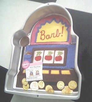 WILTON gamble SLOT MACHINE poker INSERT casino CAKE PAN