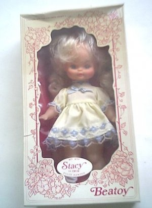 STACY beatoy VINTAGE free JOINTED blonde wBOX ship DOLL