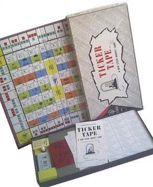TICKER TAPE stock market VINTAGE finance BOARD wall street GAME