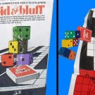 BID & BLUFF vintage FREE sh complete DICE and wood GAME