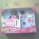 KELLY box NURSERY barbie sissy BLACK sister aa BABY set POWDER scent DOLL