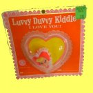 LIDDLE KIDDLES jewelry PIN kiddle LUVVY DUVVY valentine VINTAGE carded on card DOLL ish CUTIE