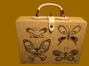 ENID COLLINS used flutterbyes VINTAGE butterfly FLUTTER BYES jeweled BUTTERFLIES jewels PURSE