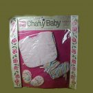 CHATTY BABY playset OUTFIT bib booties VINTAGE old DOLL clothes in original PACKAGE
