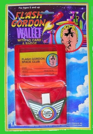 FLASH playset GORDON vintage BADGE larami carded WALLET