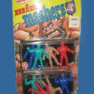 1986 vintage MINI MASHERS remco figure AWA WRESTLERS lot on carded CARD action FIGURES