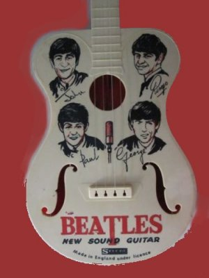 THE BEATLES selcol? VINTAGE sixties TOY plastic GUITAR