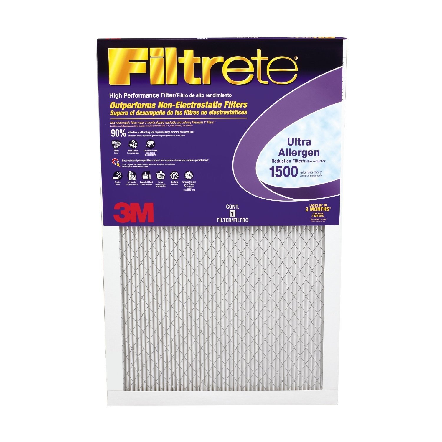 3M Filtrete 1500 MPR ON HOLD Lot of 5 New Ultra Allergen Reduction Air Filter 12x20x1 Free Shipping