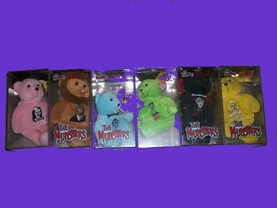 THE sealed MUNSTERS in box on hold COMPLETE plush BEAR lot SET