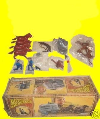 BUTCH cassidy SUNDANCE and the kid VINTAGE robert REDFORD paul NEWMAN play set PLAYSET with in BOX