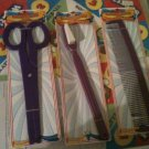 JUMBO giant CLOWN huge COMB props SCISSORS gag LOT novelty purple TOOTHBRUSH