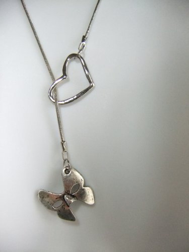 i open heart love phantom mask theater broadway acting actor silver tone charm lariat style necklace