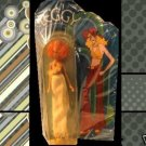 VINTAGE carded LEGGY curly RED hair KATE mod HASBRO hippie DOLL on CARD