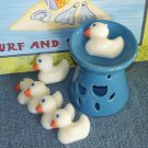 6 Scented, Soy Wax Duckling Melties & Tart Burner