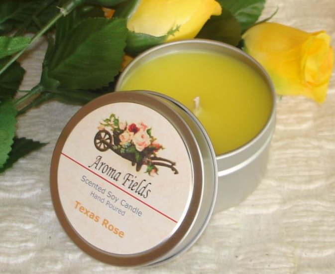 Texas Rose - Highly Scented Travel Tin Soy Candle