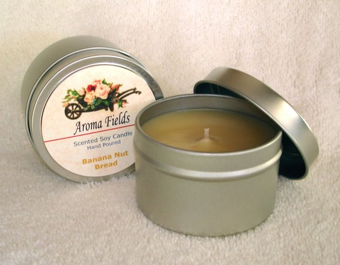 Two Highly Scented Travel Tin Soy Candles - Your Fragrance Choice