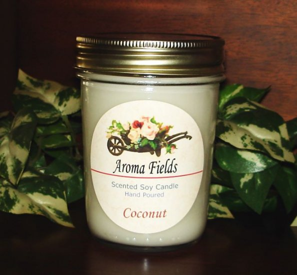 Coconut - Highly Scented Soy Candle