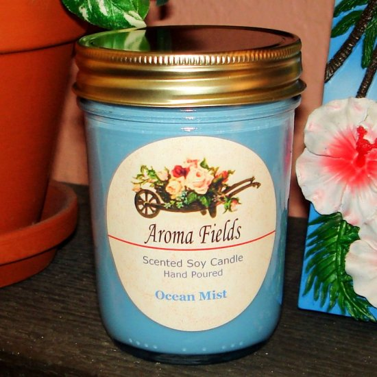 Ocean Mist - Highly Scented Soy Candle